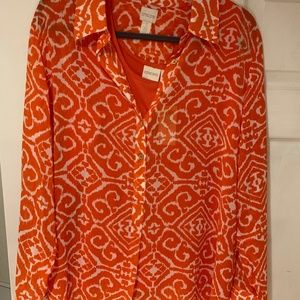 Chico's Orange Print Blouse and Tank